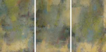 Blue and Green Musings (triptych)